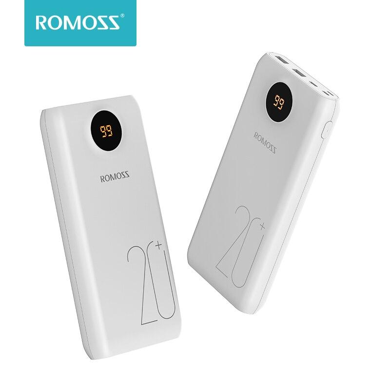 ROMOSS SW20 Pro 20000 mah Power Bank Portable Batterie Externe Avec QC3.0 Rapide De Charge Et LED Affichage Pour Téléphones Tablet