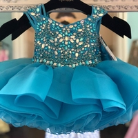 Children Pageant Dress for Toddler Infant Baby Girl Little Miss 2019 Unique Cupcake Glitz Kid Birthday Wedding Guest Party Gown