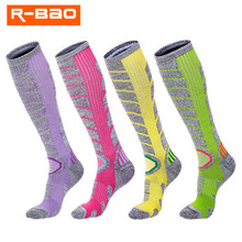 Skiing Socks (2 Pairs/lot) R-BAO/RB3321 Cotton Men Women Sports Sock Warm Winter Outdoor Hiking