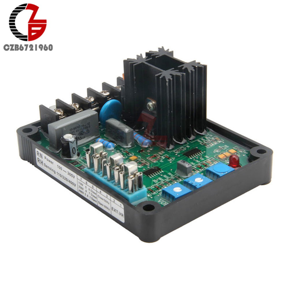 GAVR-8A AVR Generator Automatic Voltage Regulator Module Programmable Input Model 8A MP Fuse Soft Start Voltage Ramping Board generator automatic voltage regulator mx341 geneartor avr red with soft start voltage ramping