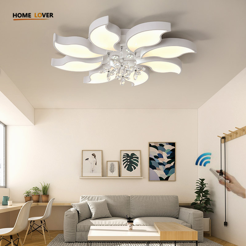 Crystal Modern Led Ceiling Lights For Living Room Bedroom Kitchen lustre lamparas de techo avize Crystal Ceiling Lamp Fixtures luminaria avize modern ceiling lights led lights for home lighting lustre lamparas de techo plafon lamp ac85 260v lampadari luz