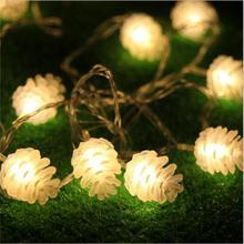 IWHD 10 м гирлянда светодиодный Рождественские огни Светодиодный год кедровые орехи Рождественские огни Светодиодный украшения светодиодный гирляндой Luces с утолщённой меховой опушкой