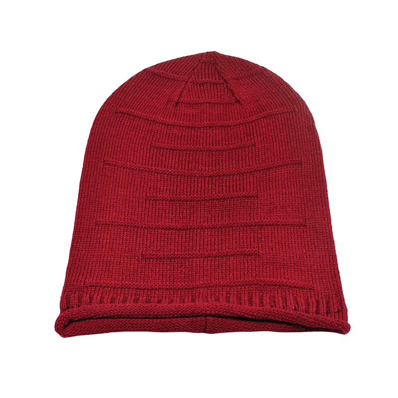 Fashion turban hats Women Men Winter Knitted Wool Cap Unisex Folds Casual Beanies Hat Solid Color Hip-Hop Skullies Beanie Hat 2017 winter women beanie skullies men hiphop hats knitted hat baggy crochet cap bonnets femme en laine homme gorros de lana