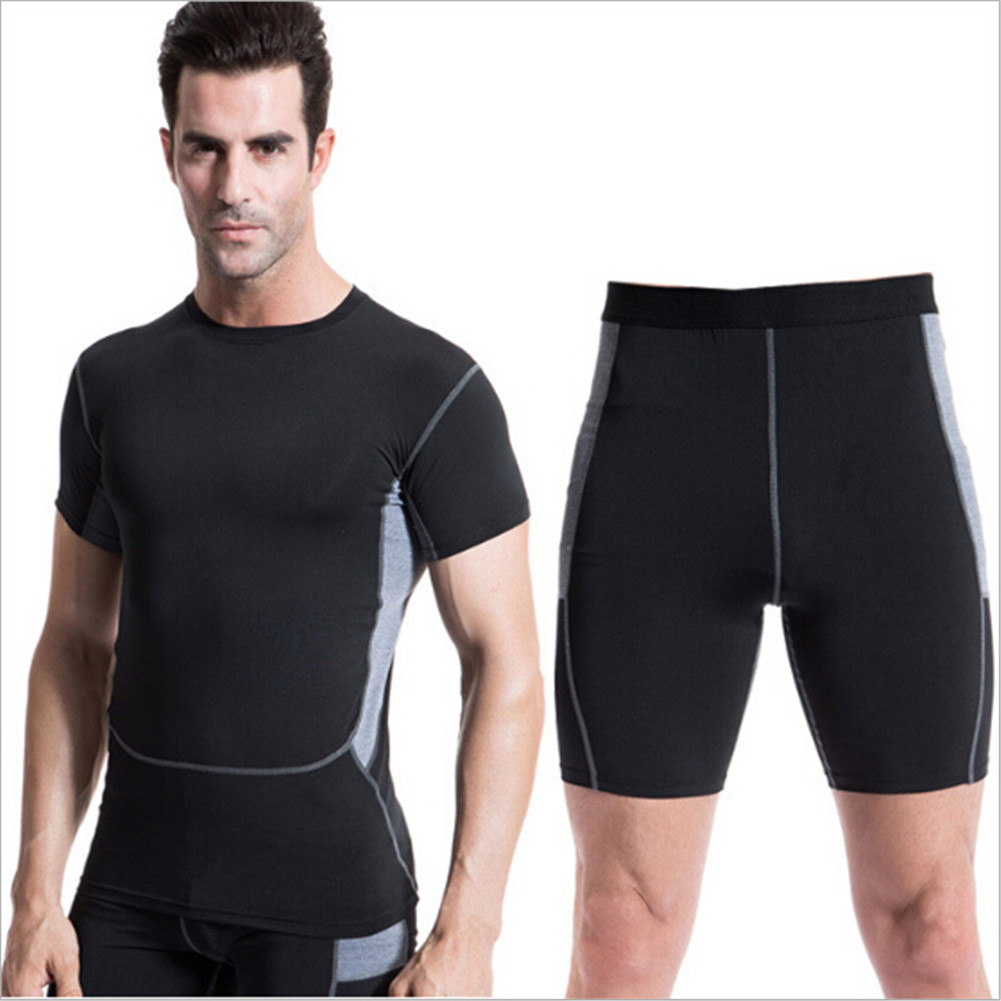Men Compression Base Layer Shirt Pants Shorts Gym Clothes Running Sport T-Shirt