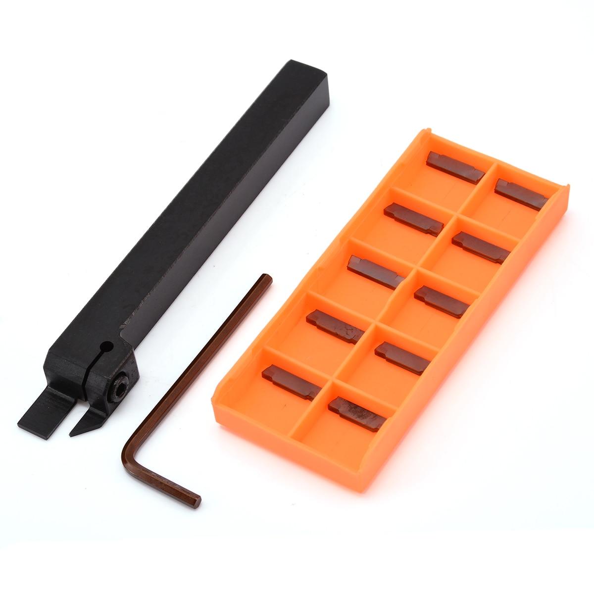 Durevole CNC Tornio Tuing Strumento MGEHR1212-2 Strumento di Cut-Off Supporto di 12*12*100mm Boring Bar + 10 pz MGMN200-G Inserti In Metallo Duro Lama
