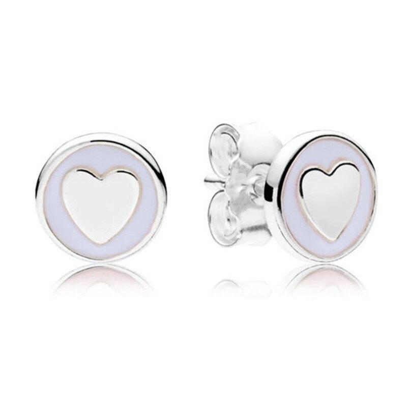 New Trendy 925 Sterling Silver Branded Earrings For Women Sweet Statements Earring Studs Lady Fine Original Europe Jewelry Gift earrings