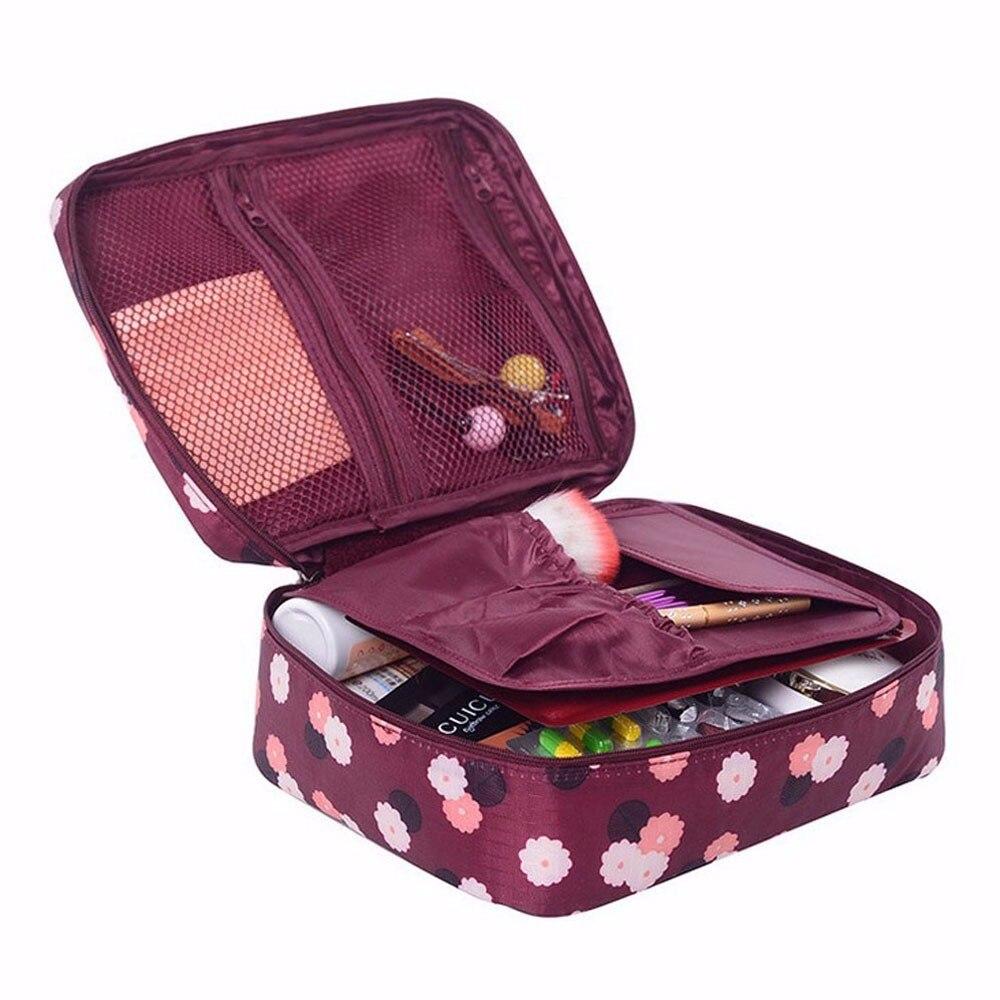 Travel Multifunction Makeup Bag Women Cosmetic Bag Wash Toiletry Make Up Organizer Storage Travel Kit Bag Multi Pocket Bag T