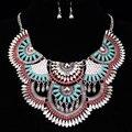 Богемия винограда ювелирных изделий макси дроссель ожерелье разноцветными стразами большой коренастый ожерелье нагрудник заявление ожерелья и подвески X1660