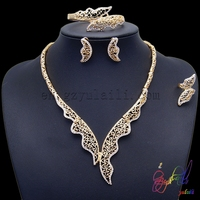 African fashion jewelry sets solid gold color jewelry dubai jewelries gold set