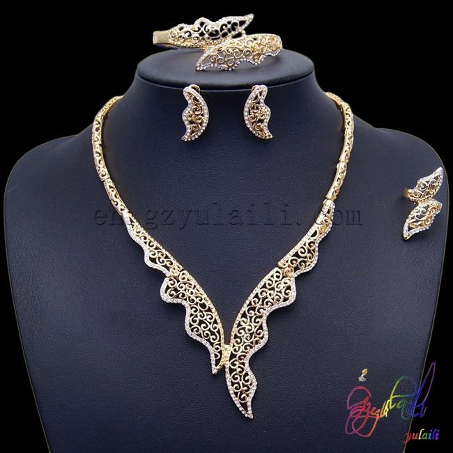 Ensembles de bijoux de mode africains bijoux en or massif ensemble de bijoux en or dubai