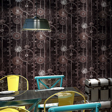 Retro nostalgia INS industrial wind Gear tool personality 3D network wallpaper restaurant bar clothing store wall sticker
