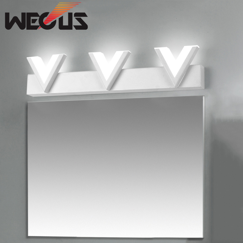 Led Acryl Edelstahl Spiegel Front Lampe Moderne Einfache