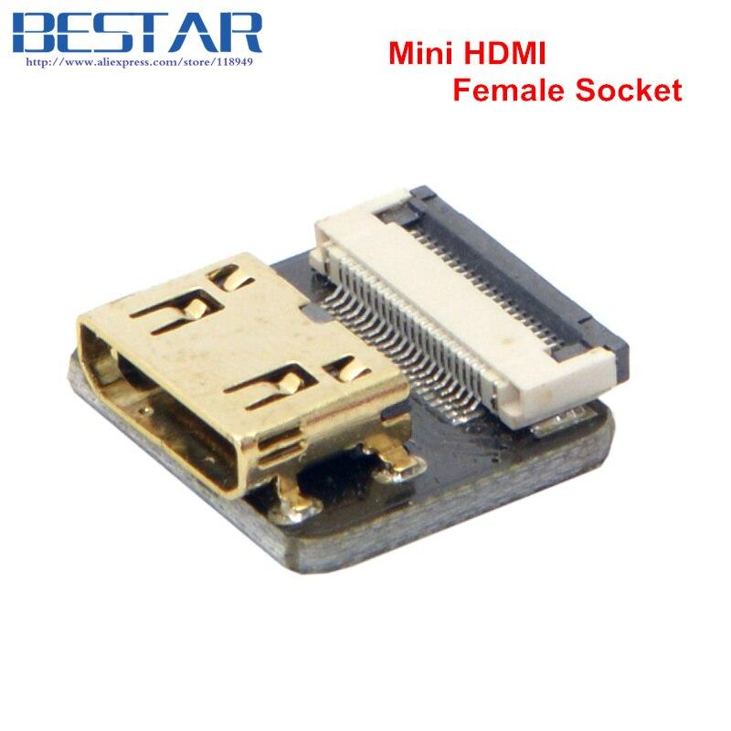 CYFPV Mini HDMI-typ C Kvinna-uttag och hane-Straight & Male-Up & - Datorkablar och kontakter - Foto 5