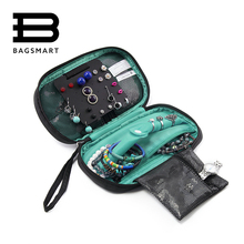 BAGSMART 2017 Travel Bags Women Cosmetic Bag Jewelry Holder Necklace Bracelet Ear Ring Pouch Bag Jewelry Packing  Bags