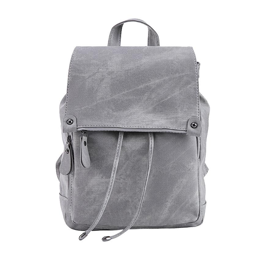 DIDA BEAR Brand Women Leather Backpacks School Backpack for Girls Teenagers Female Fashion Rucksack Bag Mochila
