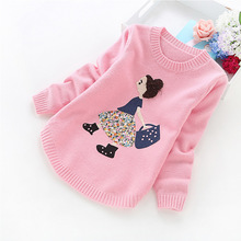 2018 autumn and winter new girls' sweaters children clothes 4-14 years girls sweater B8001