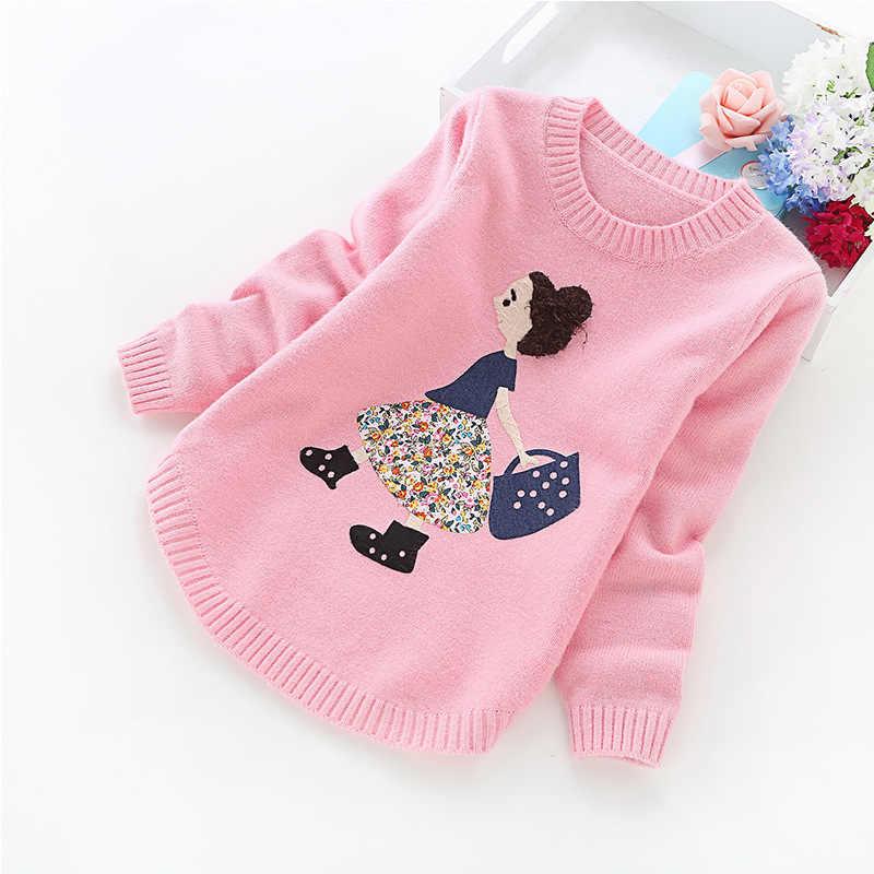 2020 가을, 겨울 새 여자 스웨터 어린이 옷 4-14 년 여자 스웨터 B8001