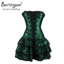Burvogue Sexy Underbust Corset and Bustier / Lace Gothic Corset Dress