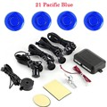 new arrival Car detector 4 sensors kit for parking system radar reverse 44 colors buzzer system sound alert round shape