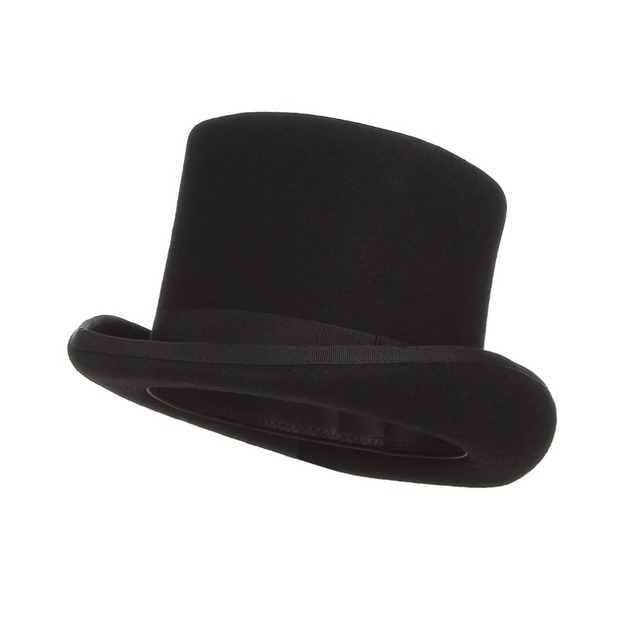 Comprar ahora Negro Steampunk sombrero lana sombreros para mujer ... c9a6d52cbe3