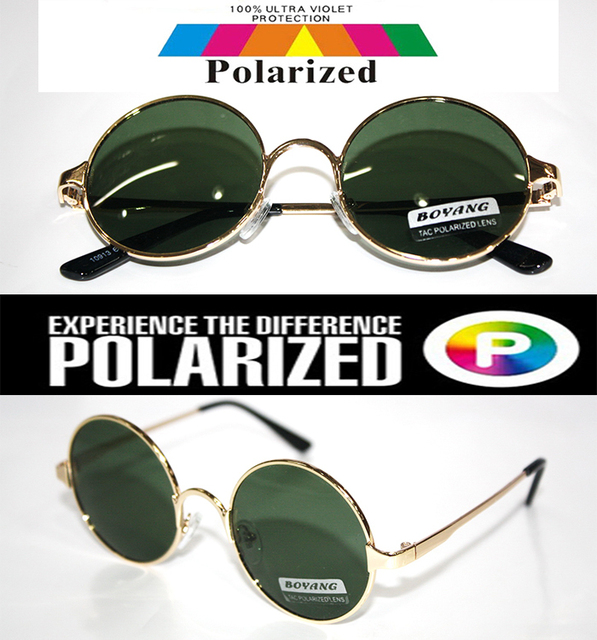 2016 Round vintage retro gold Ozzy style Driver's TAC enhanced polarized polaroid golf fishing  UV400 Men women sunglasses