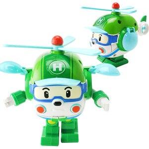 Image 4 - 4pcs Robocar Korea Robot Kids Toys Anime Action Figure Super Wings Poli Toys For Children Playmobil Juguetes