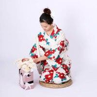 Traditional Japanese kimono bathrobe women autumn and winter thickened material kimono formal edition kimono