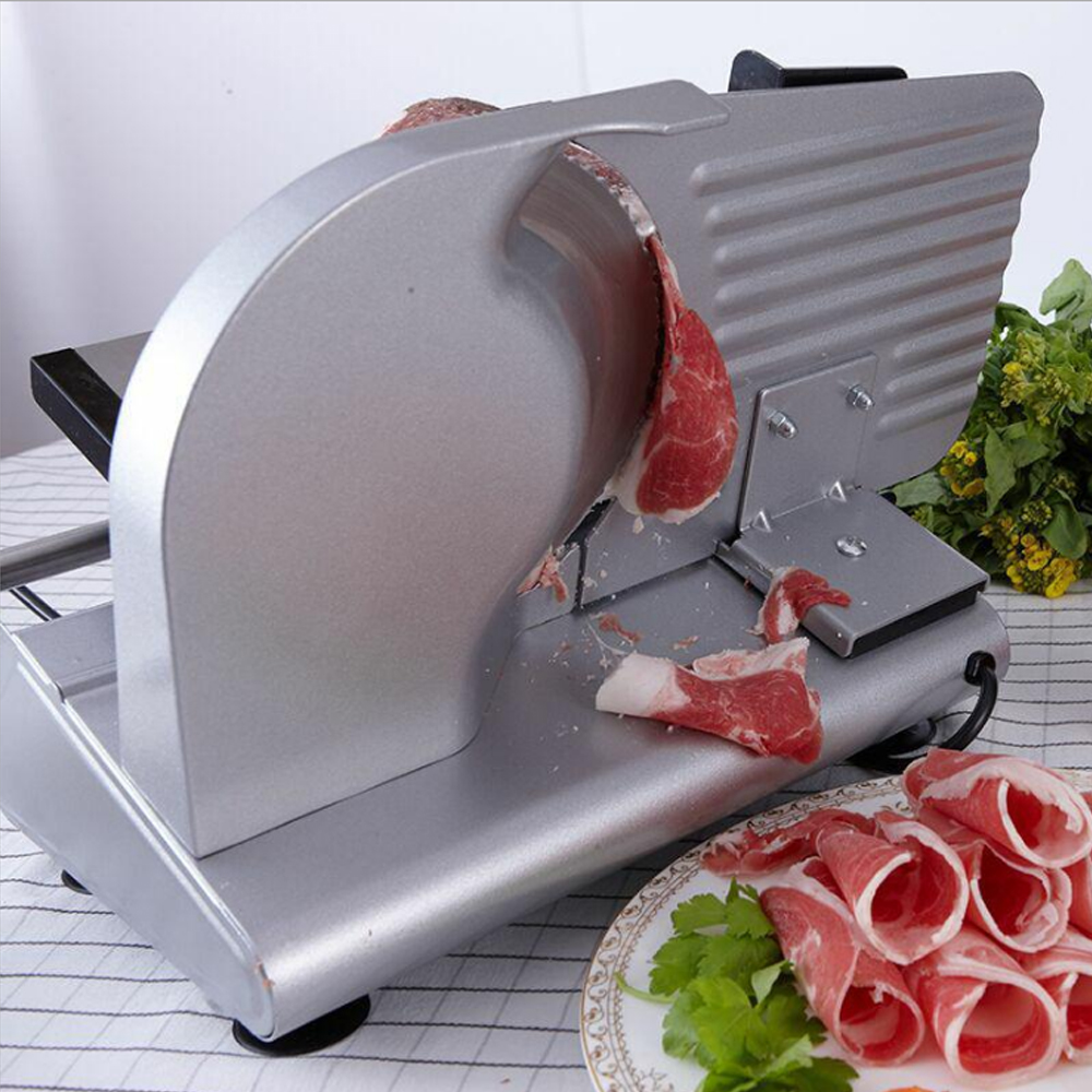 GZZT Electric Meat Slicer Frozen Stainless Steel Automatic 200W Mutton Roll Beef Cutter Machine