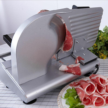 лучшая цена GZZT Electric Meat Slicer Frozen Stainless Steel Automatic Meat Slicer 200W Slicer Meat Mutton Roll Beef Cutter Machine
