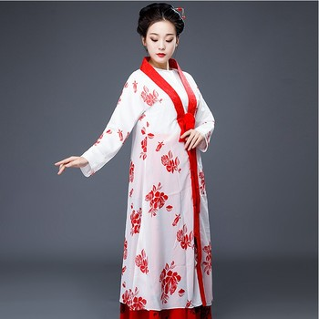 Elegant TV Film Performance Clothing Women Ancient Fairy Dress Traditional Tang Suit Hanfu Costume Cosplay for Stage