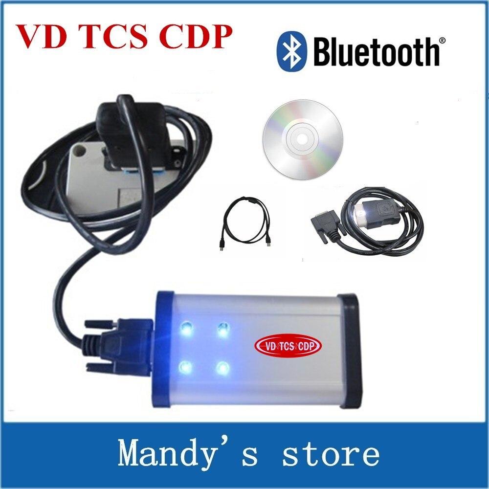 Prix pour VD TCS CDP avec Bluetooth! meilleure qualité pour version 2015.3 R3 Keygen Scanner VD TCS CDP Pro Plus + 3 en 1 pour les voitures et camions