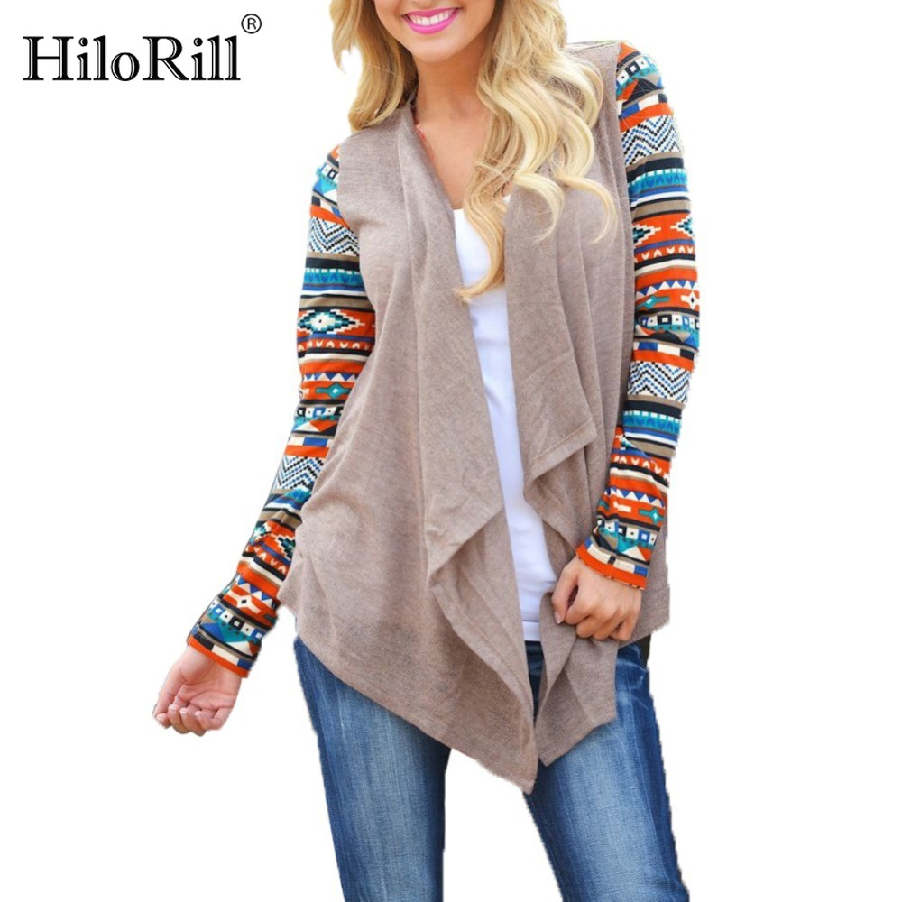 Womens Cardigan 2018 Autumn Hot Selling Elegant Floral Printed Long Sleeve Sweater Cardigans Irregular Wrap Kimono Plus Size 5XL como vestir con sueter mujer