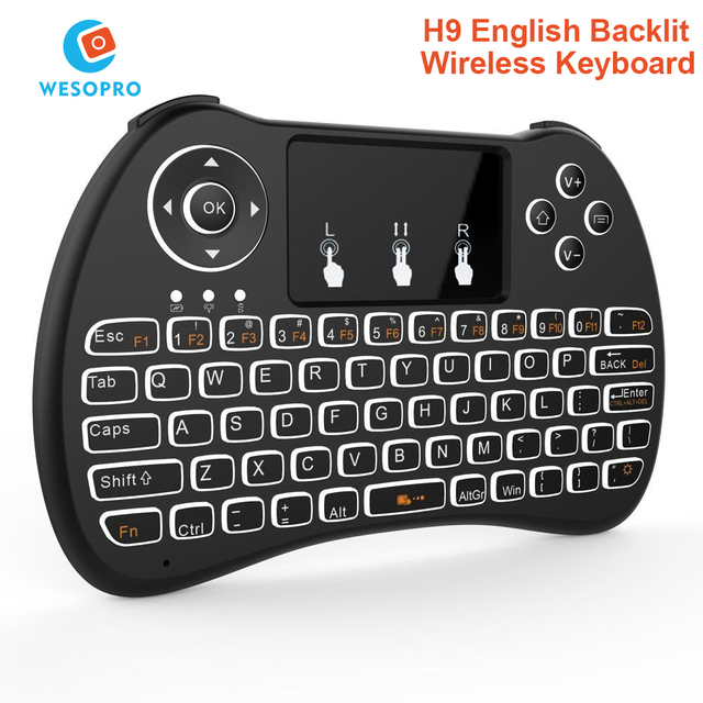 dbd77ca9812 H9 Wireless Mini Keyboard Backlight Function with Touchpad for Smart TV  Android TV box mini PC HTPC Projectors