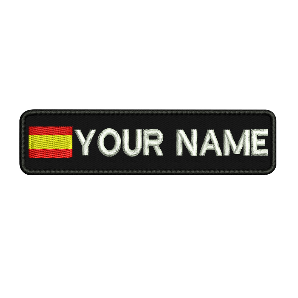 Custom SPAIN name patches tags personalized iron on hook backing-in Patches from Home & Garden
