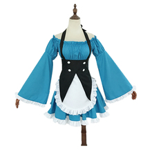 цена на Anime Re zero Kara Hajimeru Isekai Seikatsu Life In a Different World Ram/Rem Maid Servant Dress Halloween Play Costume
