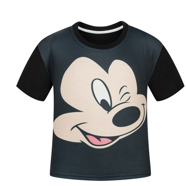 Children T shirt  mickey carttoon boys and girls cartoon printed T-shirt