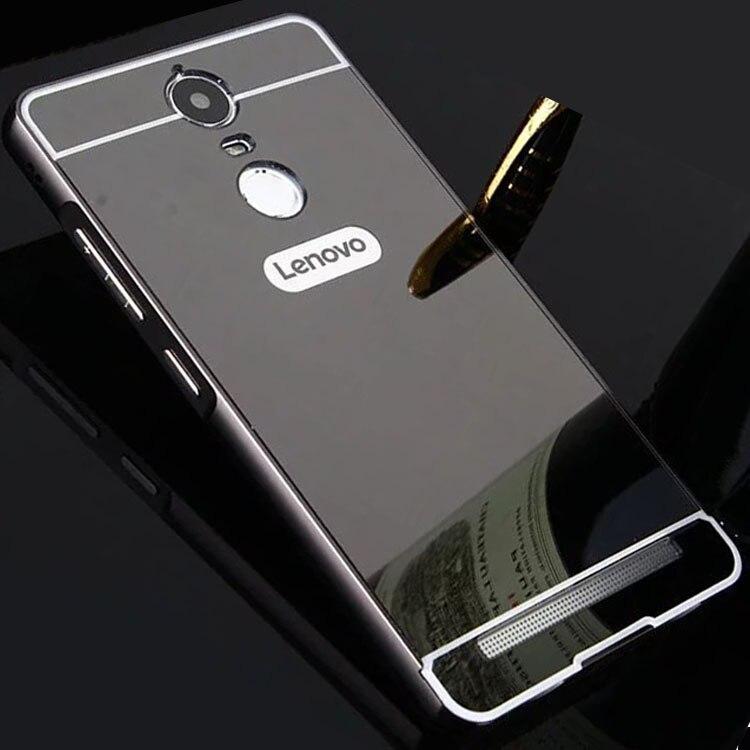 For Lenovo K6 Note Case 5.5 Mirror Aluminum Metal Bumper+ PC K6Note Hard Back Case for Lenovo K6 Note Cover K53A48 Phone Cases