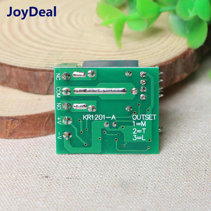 433 Mhz inalámbrico RF interruptor de Control remoto DC 12 V 1CH receptor de relé módulo DIY para hogar inteligente de 433 mhz transmisor remoto interruptores