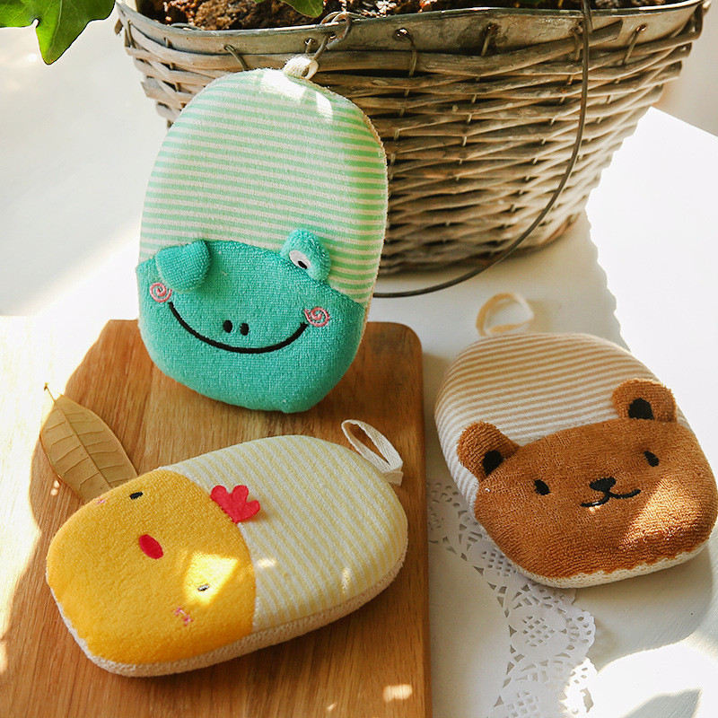 Mrosaa Bathroom Cute Baby Shower Ball Baby Bath Sponge Kids Children ...