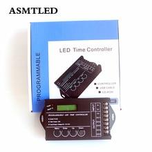Controlador LED de tiempo Programable DC12V   24V 20A TC420, 5 CANALES, CCT DIM RGB RGBW, regulador de intensidad de tira LED, puerto USB y disco de CD