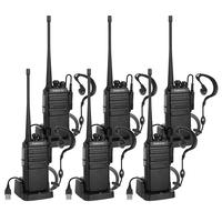 6 pcs Radioddity GA 2S Walkie Talkie 400 470MHz 2W Two Way Radio Rechargeable VOX Long Range USB Charger Earpiece Program cable