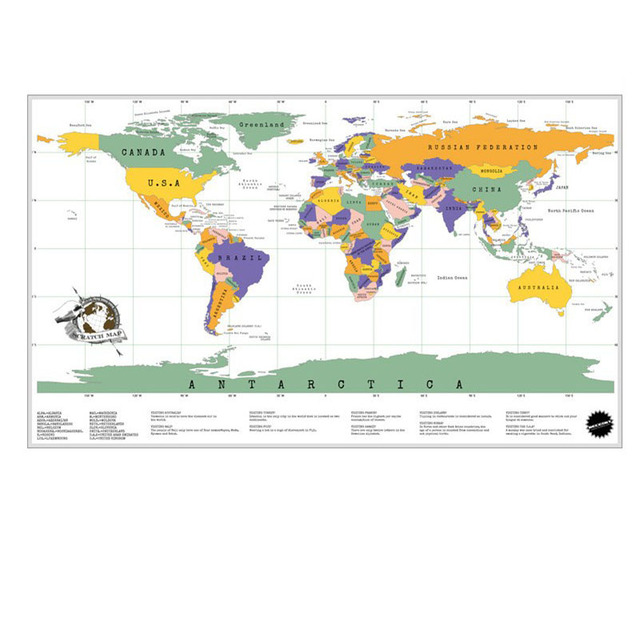 Big Size 8558 cm White Scratch Maps For Travelers And kids on – Maps For Travelers