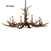 6Heads 10Heads Modern Antler Chandelier Retro Resin Deer Horn Chandelier Home Lighting Lustres Europe American Country