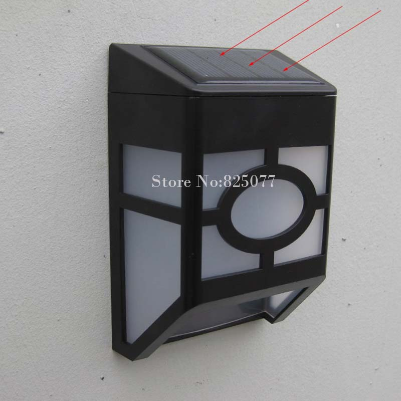 Led Wall Lamp Solar powered Led Path fence lamp Outdoor Lighting Solar Wall light Countryside Fence Patio Lantern HM183 huayang outdoor solar powered led lamp lighting garden path wall fence lawn warm white light