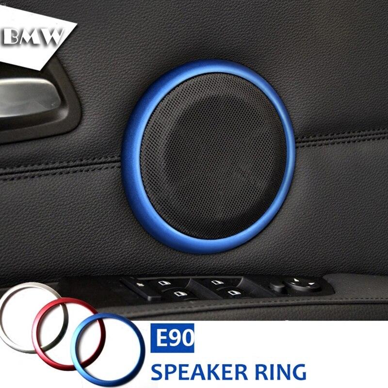 Autotür Lautsprecher Ring Sound Dekorationen Lautsprecher Trim Autozubehör für BMW E90 3 Serie 320 325 2005-2012 Car Styling