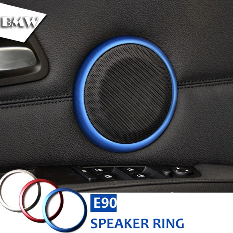 Двери автомобиля спикер кольцо украшения Накладка на громкоговоритель звука автомобиля Аксессуары для BMW E90 3 серии 320 325 2005-2012 стайлинга автомобилей