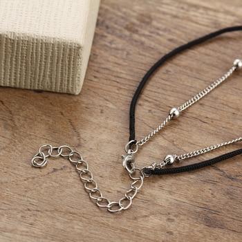 17KM Vintage Boho Multi Layer Beads Anklets Sun Pendent 4