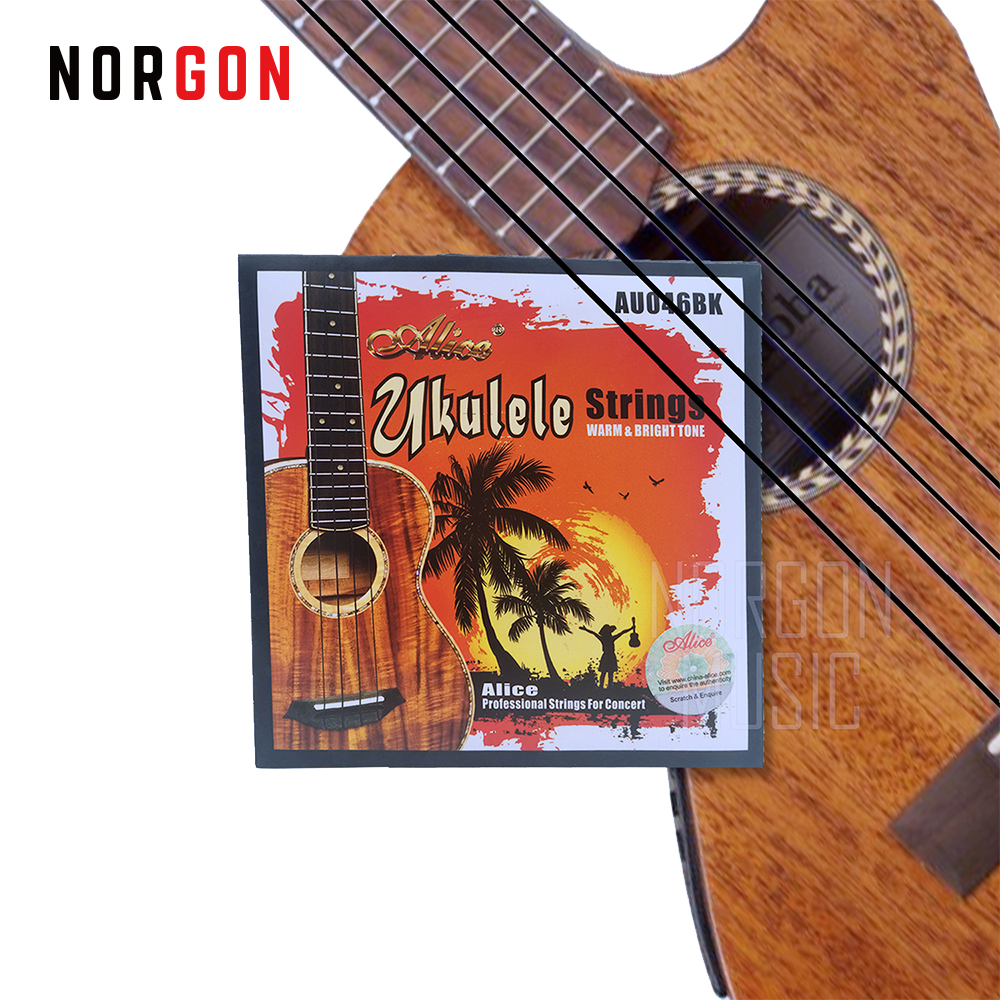 Ukulele Strings Warm Bright Tone Black Nylon Replacement For Soprano Concert Tenor Baritone 21 In 23 Inches Parts Accessories