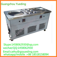 Fast cooling frying pan fried ice cream ice roll machine with Computer version temperature regulation