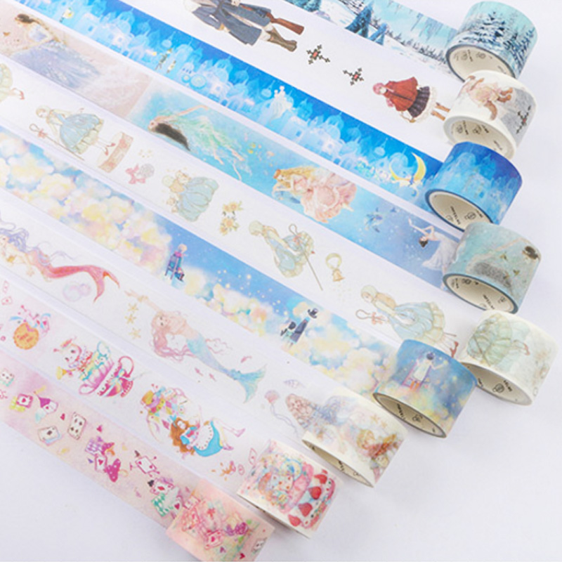 5M-7M Fairy tale series Scrapbooking DIY Planner Scrapbooking decorative tape Japanese washi tape masking tape School Supply 1 5cm 7m flowers fox steamer mushroom decorative washi tape scotch diy scrapbooking masking craft tape school office supply
